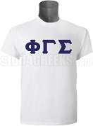 Phi Gamma Sigma Men's Greek Letter Screen Printed T-Shirt, White