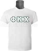 Phi Kappa Chi Greek Letter Screen Printed T-Shirt, White