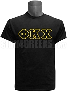 Phi Kappa Chi Greek Letter Screen Printed T-Shirt, Black