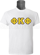 Phi Kappa Phi Men's Greek Letter Screen Printed T-Shirt, White