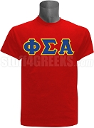 Phi Sigma Alpha Greek Letter Screen Printed T-Shirt, Red