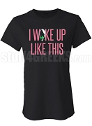 I Woke Up Like This AKA Fitted Screen Printed T-Shirt, Black