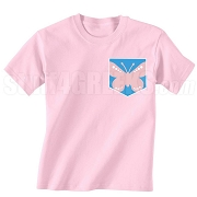 GFD Butterfly Faux Pocket Screen Printed T-Shirt