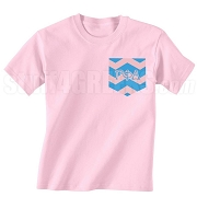 Gamma Phi Delta Chevron Faux Pocket Screen Printed T-Shirt