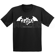 Groove Phi Groove Fratman Screen Printed T-Shirt with Letters, Black