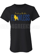 Flawless Sigma Gamma Rho Fitted Screen Printed T-Shirt, Black