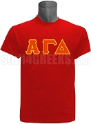 Alpha Gamma Delta Greek Letter Screen Printed T-Shirt, Red