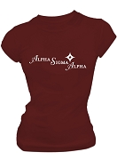 Alpha Sigma Alpha Woman Of Poise And Purpose Stitched T-Shirt, Crimson