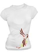Alpha Sigma Alpha Phoenix Screen Printed T-Shirt, White