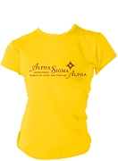 Alpha Sigma Alpha Woman Of Poise And Purpose Screen Printed T-Shirt, Gold