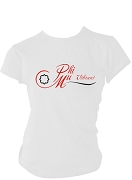Phi Mu Logo Screen Printed T-Shirt, White