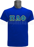 Pi Alpha Phi Greek Letter Screen Printed T-Shirt, Royal