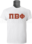 Pi Beta Phi Greek Letter Screen Printed T-Shirt. White