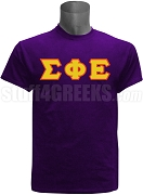 Sigma Phi Epsilon Greek Letter Screen Printed T-Shirt, Purple