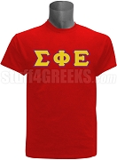 Sigma Phi Epsilon Greek Letter Screen Printed T-Shirt, Red