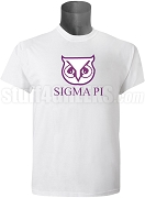 Sigma Pi Sigma Owl Screen Printed T-shirt, White