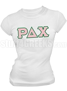 Rho Delta Chi Greek Letter Screen Printed T-Shirt, White