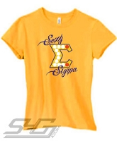 Sexy Sigma, Gold Screen Printed T-Shirt