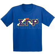 SGRho 10 Pearls & 2 Rubies Screen Printed T-Shirt, Royal