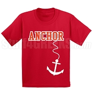 Anchor Screen Printed T-Shirt, Red/White