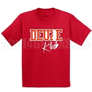 Deuce Club Screen Printed T-Shirt, Red/White