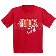 4/Four Club Screen Printed T-Shirt, Red/White