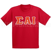 Sigma Alpha Iota Greek Letter Screen Printed T-Shirt, Red