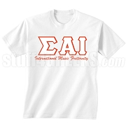 Sigma Alpha Iota International Music Fraternity Screen Printed T-Shirt, White
