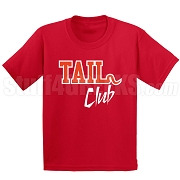 Tail Club Screen Printed T-Shirt, Red/White
