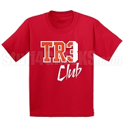 Tre Club Screen Printed T-Shirt, Red/White