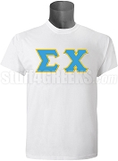 Sigma Chi Greek Letter Screen Printed T-Shirt, White