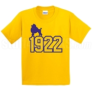 Poodle on 1922 Screen Printed T-Shirt, Gold