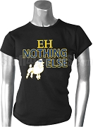 EH Nothing Else Screen Printed T-Shirt with Poodle, Black