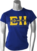 EH Established 1979 Screen Printed T-Shirt, Royal Blue