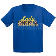 Lady Sigma Fitted Screen Printed T-Shirt, Royal