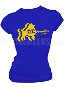 Omega Sigma Chapter of Sigma Gamma Rho Screen Printed T-Shirt with Poodle, Royal Blue