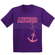 Anchor Screen Printed T-Shirt, Purple/Pink