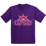 Captain Screen Printed T-Shirt, Purple/Pink