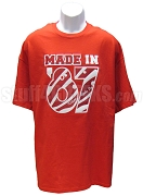 MADE IN... Screen Printed T-Shirt - Red/White