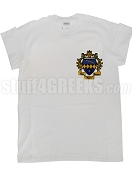 Tau Beta Sigma Screen Printed T-Shirt with Crest, White