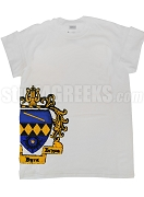 Tau Beta Sigma Screen Printed T-Shirt with Side Crest, White