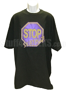 Stop Skating! Screen Printed T-Shirt, Purple/Gold