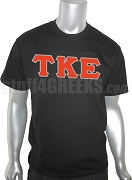 Tau Kappa Epsilon Greek Letter Screen Printed T-Shirt, Black