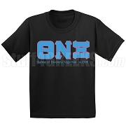 Theta Nu Xi Motto Screen Printed T-Shirt, Black