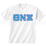 Theta Nu Xi Screen Printed T-Shirt, White