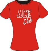 Ace Club Screen Printed T-Shirt, Red/White