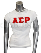 Alpha Sigma Rho Greek Letter Screen Printed T-Shirt, White