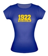 1922 Sigma Gamma Rho Ladies Fitted Tee, Royal - EMBROIDERED with Lifetime Guarantee