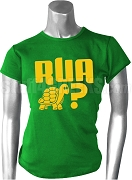 Are You A Turtle? Kelly Green T-Shirt with Gold Screen Printed Letters