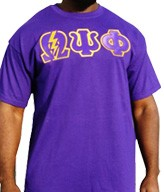 Q-Psi-Phi Bolt Screen Printed T-Shirt